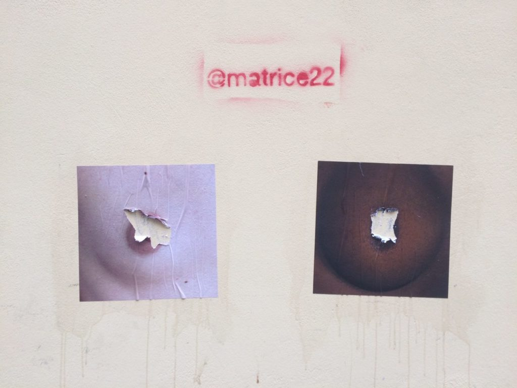 Affissioni del progetto #feelthenipple a Milano - Matrice22 - courtesy of the artists