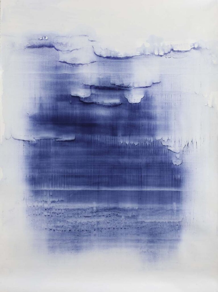 Depth, 2013 - Watercolor on paper mounted on canvas - Matteo Montani - courtesy of the artist