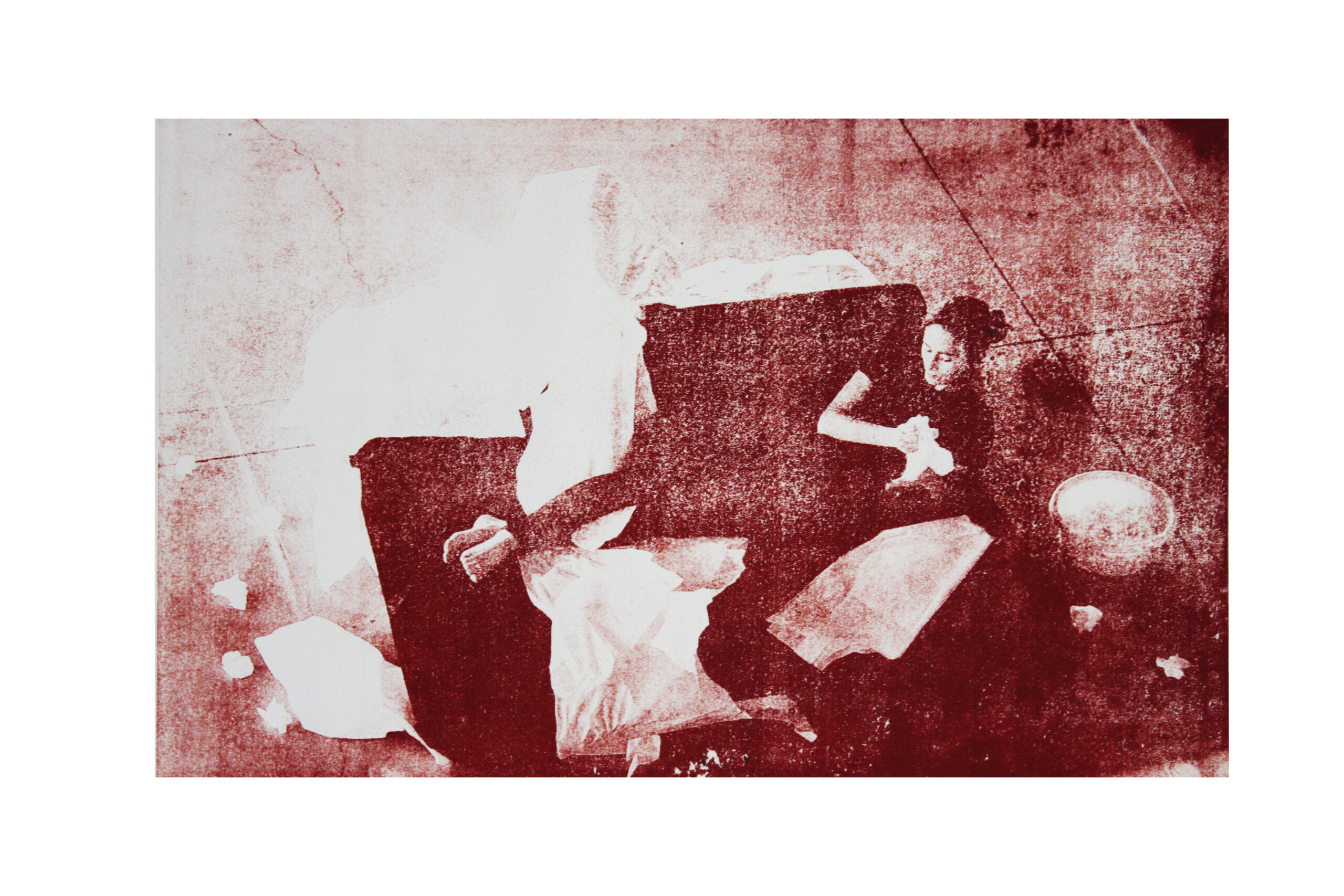 """""""Never seen performance"""", Gum prints on paper, 40 x 50 cm, 2020 - Francesca Mussi - courtesy of the artist"""