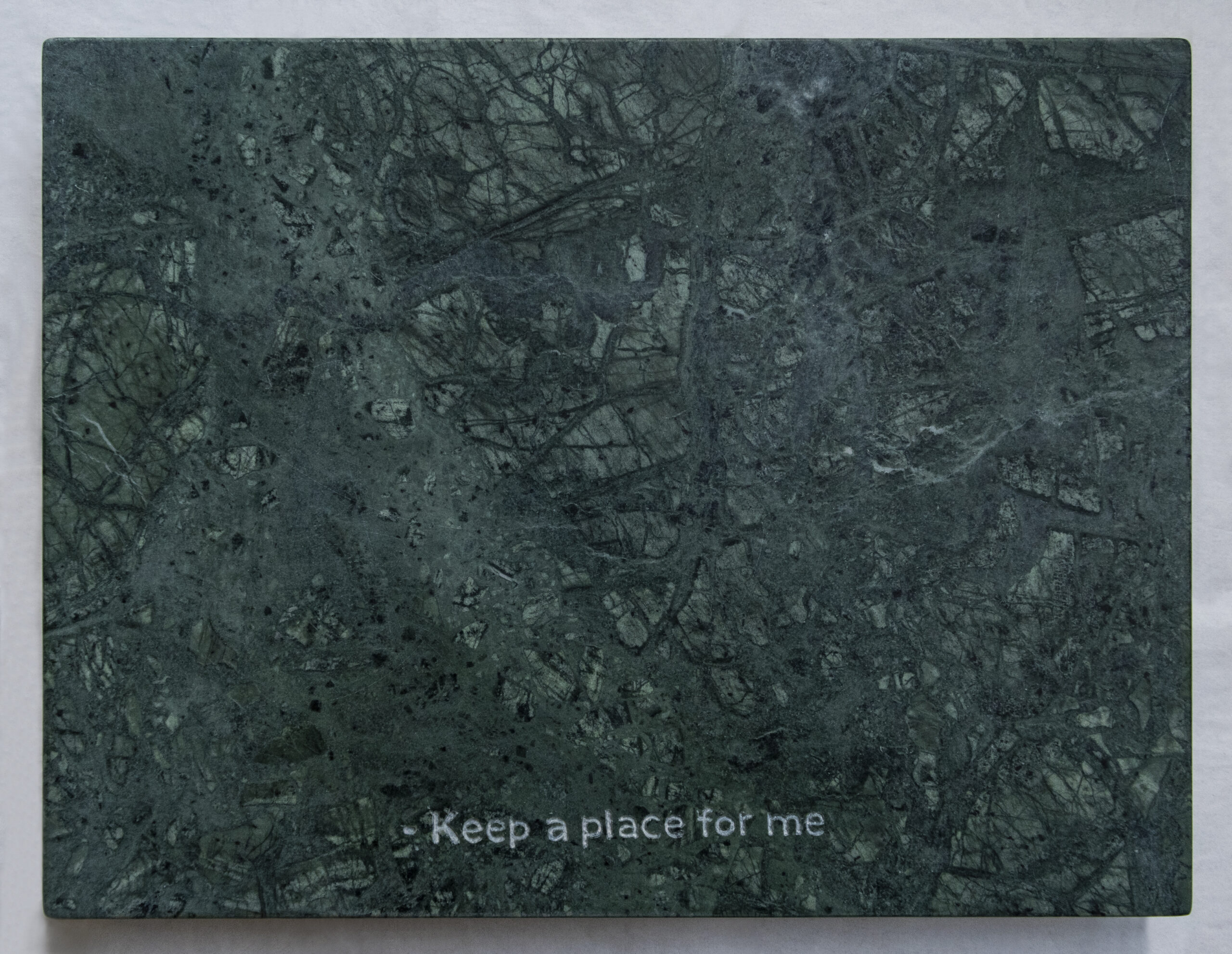 Guatemala green marble, 2020 - 38 x 29 cm - Marco Curiale - courtesy of the artist